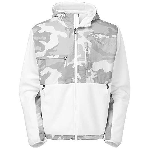29753d479179c Image Unavailable. Image not available for. Color: The North Face Men's  Denali Hoodie Jacket Small Recycled TNF White Camo ...