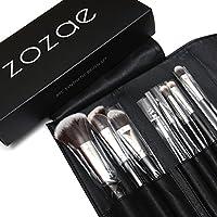 Zozae Premium Professional Quality Kabuki Makeup Brushes 8pc Kit Comes with Organizer Case and Free Beauty Secrets Ebook
