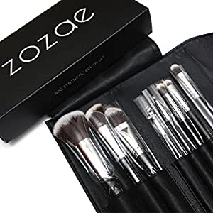 Zozae Kabuki Makeup Brushes Kit with Organizer Case and Ebook