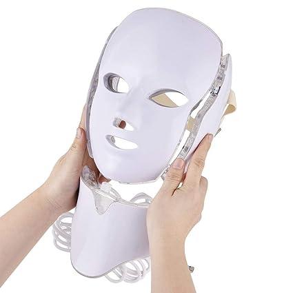 Supertop 7 colores LED Máscara de cuidado de la piel Luces Máscara Facial Foto Rejuvenecimiento Espectro