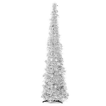 Weihnachtsdeko Material.Langde Weihnachtsbaum Künstlich Slim 150 Cm Mit Deko Leuchtende