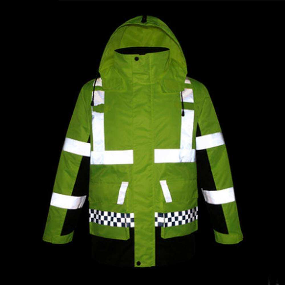 SXZHSM-Toy model Detachable Cotton Coat, Reflective Raincoat, Reflective Clothing, Traffic Duty, Raincoat, Construction, Raincoat, Riding Raincoat Reflective Vests (Size : XL) by SXZHSM-Toy model (Image #8)