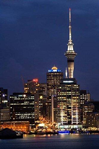 City skyline at night Auckland CBD North Island New Zealand Poster Print by David Wall (24 x 35) (Auckland Cbd Auckland)