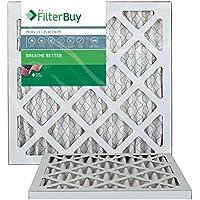 FilterBuy 14x18x1 MERV 13 Pleated AC Furnace Air Filter, (Pack of 2 Filters), 14x18x1 – Platinum