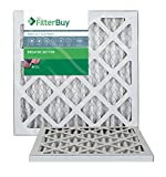 FilterBuy 14x18x1 MERV 13 Pleated AC Furnace Air Filter, (Pack of 2 Filters), 14x18x1 - Platinum