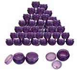 small cosmetic jars - Beauticom 36 Pieces 10G/10ML Purple Frosted Container Jars with Inner Liner for Makeup, Creams, Cosmetic Beauty Product Samples - BPA Free