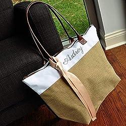 Bridesmaid Tote. Personalized Bridesmaid Gift Bags. Custom Name Bag. Zipper Tote. CmlRT.