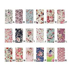 JJESmall Fresh Florals Pattern Full Body Leather Case with Stand for Samsung Galaxy S5 i9600 , E