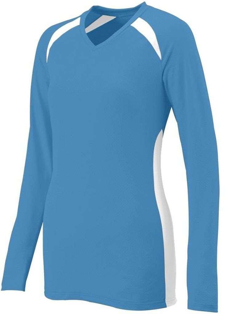 Augusta SportswearレディースSpike Jersey B00HJTMYAYコロンビアブルー/ホワイト XL