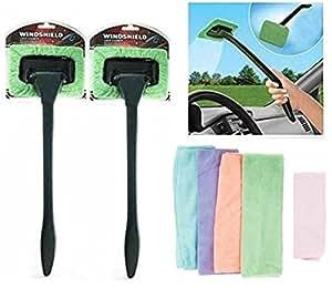 car interior cleaning detailing kit 2 microfiber windshield cleaner wands 5. Black Bedroom Furniture Sets. Home Design Ideas