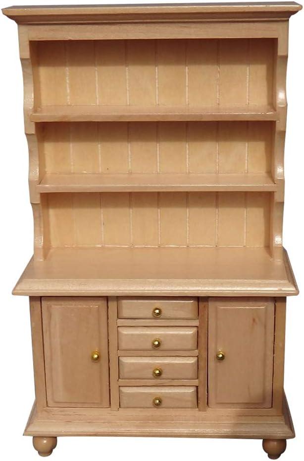 Vintage 1//12 Wood Hanging Cabinet Shelf Furniture for Dolls House Miniature