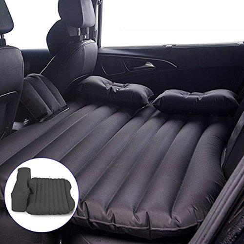 カーマットレスリア旅客自動車SUVトラベルベッドカーベッドエアベッドカーカースリーピングパッドベッド B07DRG27BM ブラック ブラック