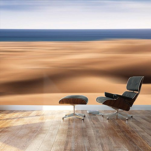 Blurred out Desert with Ocean peaking on the background Landscape Wall Mural