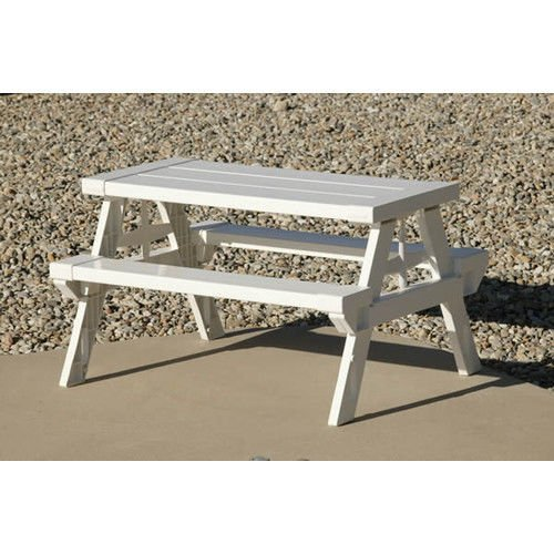 NEW Kid's Home & Garden Lightweight Outdoor/Indoor White Picnic Table