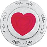Cheap Danforth – Hearts Pewter Purse Mirror (Red)