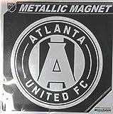 Atlanta United FC 6'' MAGNET Silver Metallic Style Vinyl Auto MLS Soccer Club