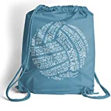 Volleyball Words Cinch Sack | Volleyball Bags by ChalkTalk SPORTS | Light Blue Review
