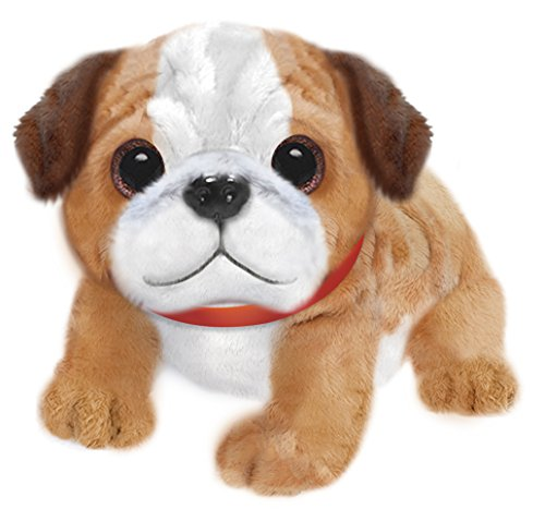 "First & Main 7"" Tan & White Wuffles Bulldog Puppy Dog Basic Plush Toys"