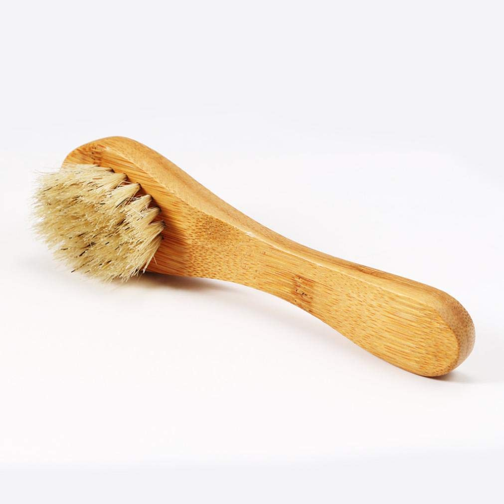 Dry Brushing Body Brush, Bamboo Natural Boar Bristles for Lymphatic Drainage, Skin Exfoliation - Cellulite Massager, Long & Contoured Brush, Lava Pumice Stone Gift, How to Guide Glowing Skin (Yellow) by DICPOLIA Beauty (Image #4)