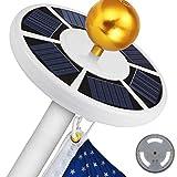 Pannow 42 LED Solar Flagpole Light, Solar Power Flag Pole Lights Adjustable Waterproof