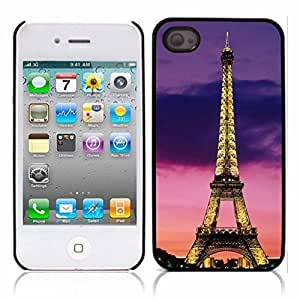 Paris Eiffel Tower Hard Plastic and Aluminum Back Case for Apple iphone 4 4S hjbrhga1544 by ruishername