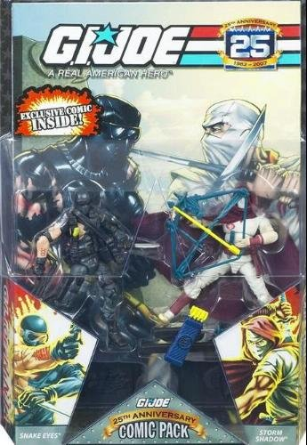 G.I. JOE 25th Anniversary Comic Pack: Snake Eyes and Storm Shadow ()