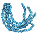 Bead Collection 40179 Semi Precious RectangleTurquoise Chips Beads, 8-Inch
