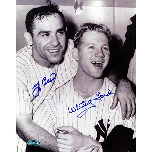 - Ny Yankees Legends Yogi Berra/Whitey Ford Dual Autographed Signed 8x10 Photo BW Photo Steiner