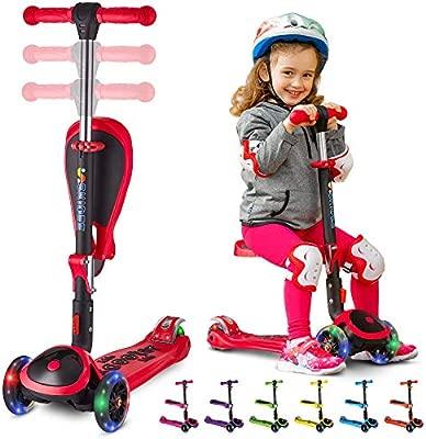 Skidee Scooter para niños con asiento plegable - 2 en 1 ...