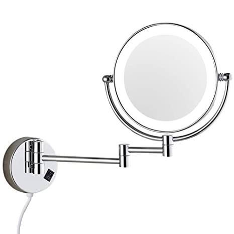 Amazon Com Dowry Wall Mounted Led Lighted Vanity Makeup Mirror
