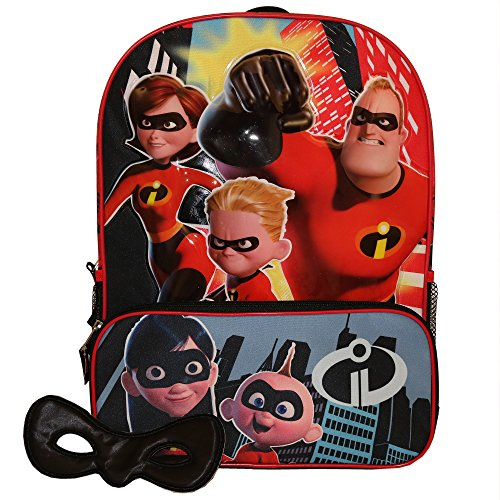 Disney Incredibles 2 Molded Front 16'' Backpack Tote, One Size by Disney
