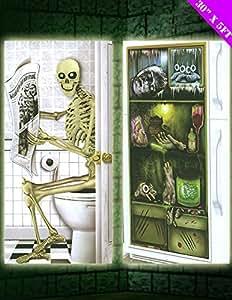 Decoraci n de puertas para halloween conjunto de 2 for Imagenes puertas decoradas halloween