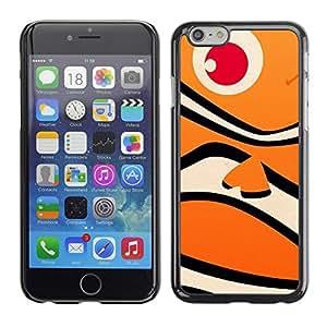 Suave silicona goma funda carcasa rígida protectora Accessory Compatible con Apple iPhone 6(4,7pulgadas)–Fish Happy Neo Orange Ocean Pattern