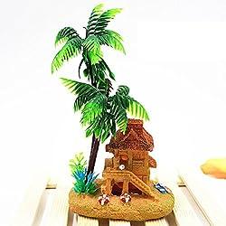 Muranba Aquarium Aquarium Decorative Oxygen Bubble Mini Creative Products Yurts Coconut