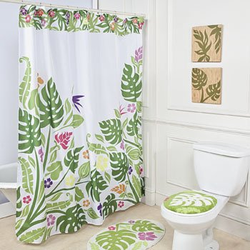 Palm Leaf Shower Curtain - Home Textiles: Amazon.co.uk: Kitchen & Home
