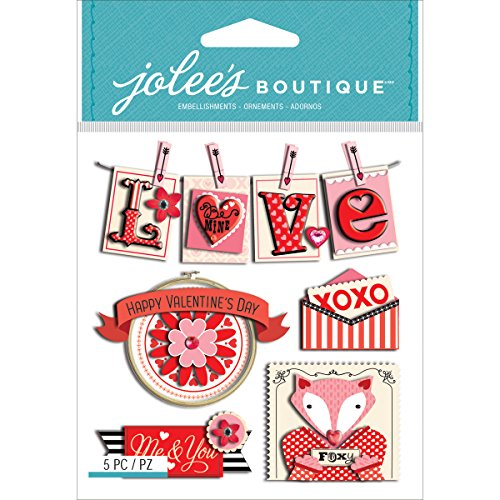 JOLEES Boutique Dimensional Stickers, Valentine (Dimensional Word Stickers)