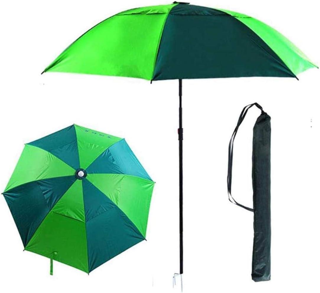 Sombrilla for el Patio, al Aire Libre portátil Beach UV UPF 50+ Protección Parasol, 360 Grados de inclinación, con exclusión de Base, por jardín al Aire Libre Terraza