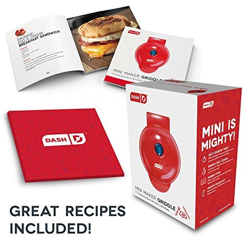Dash DMS001RD Mini Maker - Griddle, Red by Dash (Image #5)