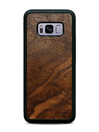 Galaxy S8 Walnut Burl Wood Traveler Case by Carved, Unique Real Wooden Phone Cover (Rubber Bumper, Fits Samsung Galaxy S8)