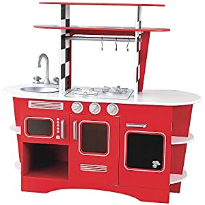 Captivating Early Learning Centre 139155 Wooden Diner Kitchen, Red