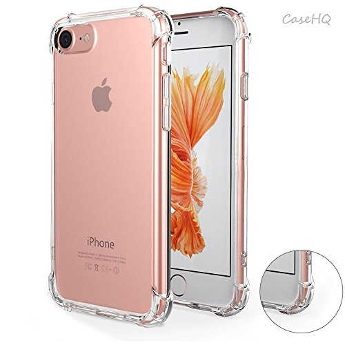 iPhone 6S Case Clear Simple TPU Cover CaseHQ Shop Scratch-Proof Dust-Proof Trim Bumper Protective Reinforced Ultra Thin TPU Cover Hard Plastic Back Plate Soft TPU Gel Bumper For iPhone 6/6S