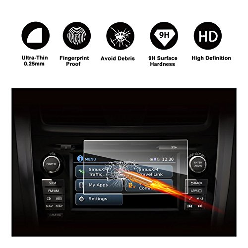 2015-2018 Nissan Rogue NissanConnect 7-Inch Touch Screen Car Display Navigation Screen Protector, RUIYA HD Clear TEMPERED GLASS Car In-Dash Screen Protective Film by RUIYA