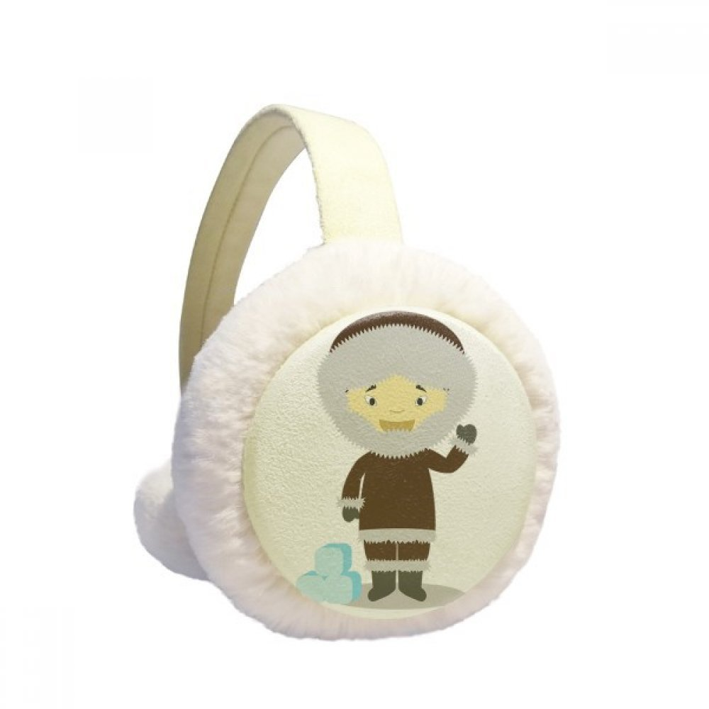 Cold Jacket Greenland Cartoon Winter Earmuffs Ear Warmers Faux Fur Foldable Plush Outdoor Gift