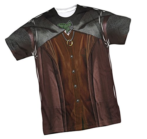 [Frodo Costume -- Lord Of The Rings Front Print Sports Fabric Youth T-Shirt, Youth Medium (10/12)] (Kili Fili Costume)