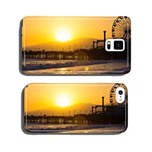 Sunset on Santa Monica Beach cell phone cover case Samsung S6
