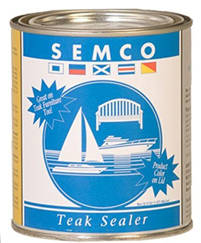 New Semco Teak Wood Natural Finish Sealant Protector Sealer ( 1 Gallon - Approx Coverage 200sqft) (Outdoor Semco)