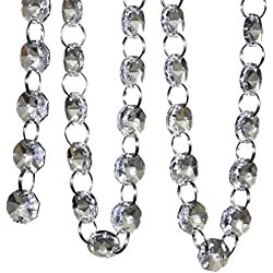 SKY CANDYBAR Crystal Clear Acrylic Bead Garland Chandelier Hanging wedding Decoration 33 FT