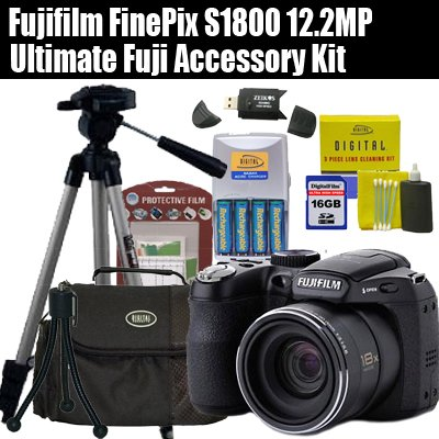 Fujifilm FinePix S1800 12.2MP Digital Point and Shoot Camera With