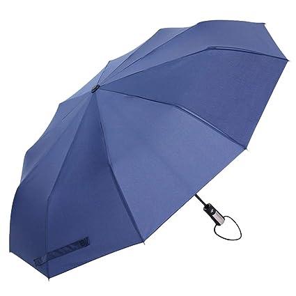 6d8a28c09 Umbrella Windproof - 1pc Big Strong Fashion Windproof Men Gentle Folding  Compact Fully Automatic Rain Pongee