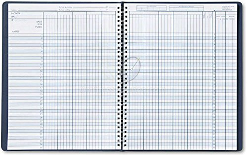 House of Doolittle Academic Series Class Record Book Blue Leatherette Cover, 8 x 11 Inches( HOD51407)